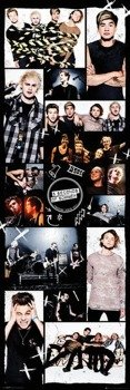 plakat na drzwi 5 SECONDS OF SUMMER - GRID