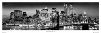 plakat panoramiczny NEW YORK - MANHATTAN BLACK - BERENHOLTZ