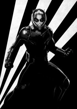 plakat z metalu MARVEL - CIVIL WAR - ANT MAN