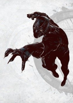 plakat z metalu MARVEL - CIVIL WAR - BLACK PANTHER