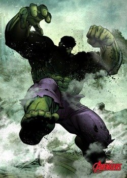 plakat z metalu MARVEL - THE HULK