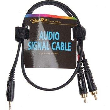 przewód audio BOSTON: 2 x RCA (cinch) - mały jack (3.5mm) stereo / 75cm