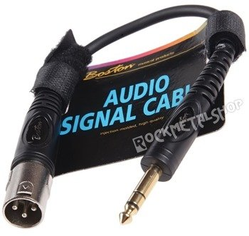 przewód audio BOSTON: XLR - duży jack (6.3mm) stereo / 0,30m