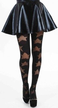 rajstopy Reverse Texture Star Tights