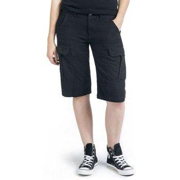 spodnie bojówki krótkie HAVANNAH VINTAGE SHORTS - BLACK