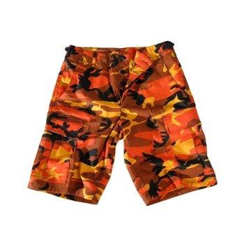 spodnie bojówki krótkie MMB US BDU SHORT ORANGE CAMO