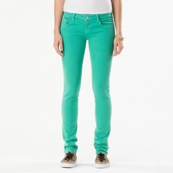 spodnie damskie VANS - SKINNY DENIM SEA GREEN CHEET