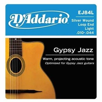 struny do gitary akustycznej D'ADDARIO - GYPSY JAZZ LIGHT EJ84L /010-044/