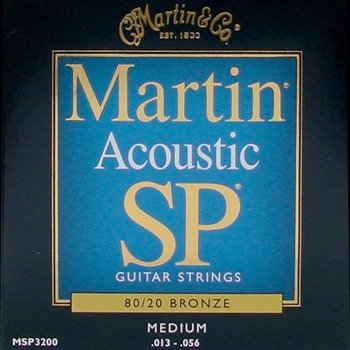 struny do gitary akustycznej MARTIN MSP3200 - 80/20 BRONZE Medium /013-056/