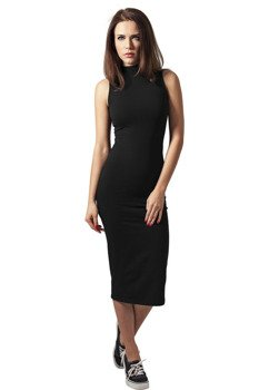 sukienka LADIES STRETCH JERSEY TURTLENECK DRESS