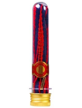sznurowadła TUBELACES - GOLD ROPE HOOK UP NAVY/RED (130 cm)
