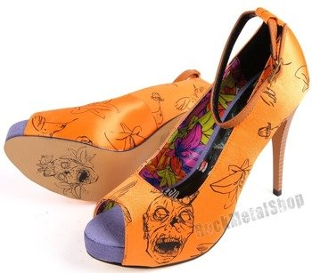 szpilki IRON FIST - ZOMBIETINI PLATFORM (ORANGE) (IFL0675)