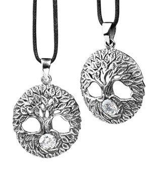 wisior TREE OF LIFE, srebro 925 cyrkonia white
