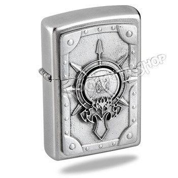 zapalniczka ZIPPO - BATTLE SHIELD SATIN FINISH