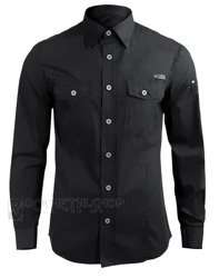 koszula MEN SHIRT SLIM - BLACK