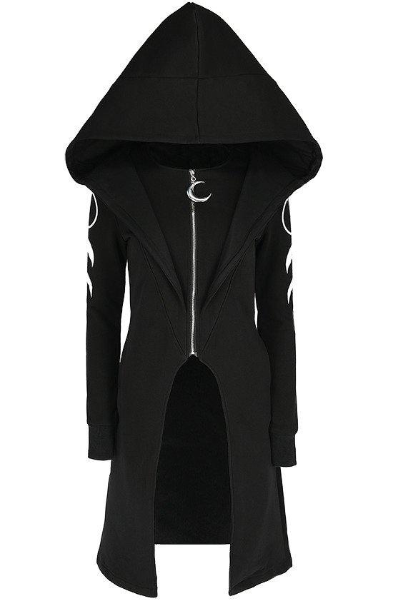 damska czarna bluza duży kaptur