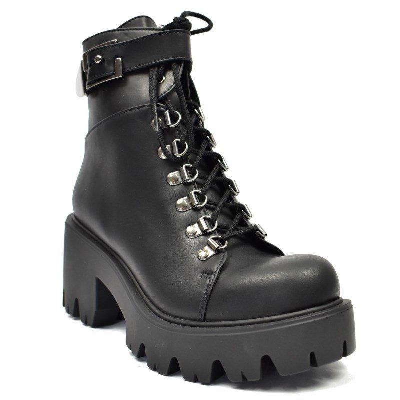 57f330f0e5576 botki damskie ALTERCORE czarne (ENID BLACK) - sklep RockMetalShop.pl