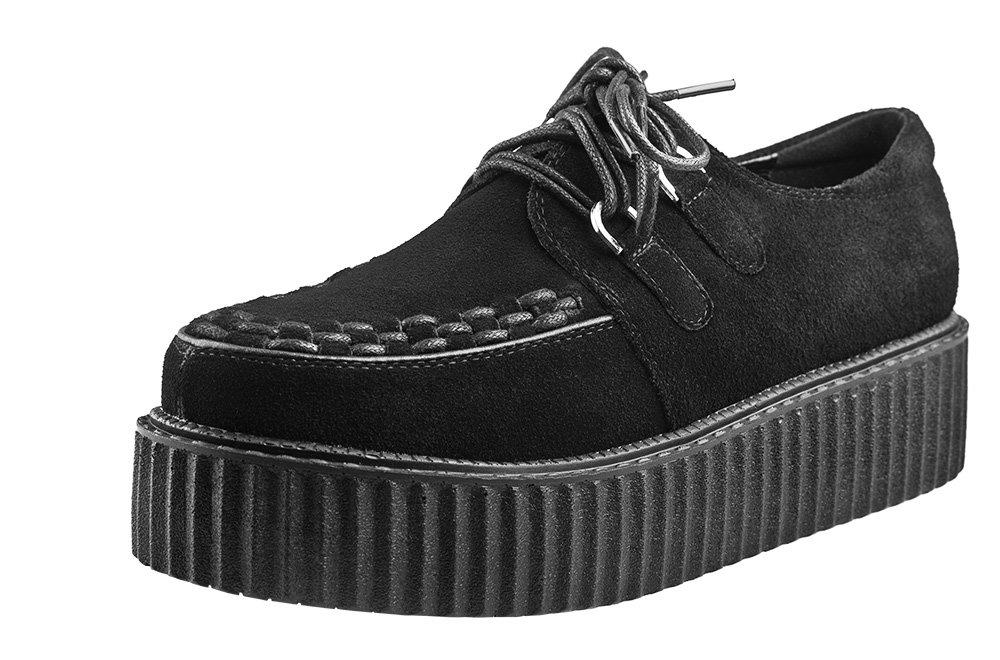 ba560a62676bc buty damskie creepers SMITHS (BLACK) zamszowe - sklep RockMetalShop.pl