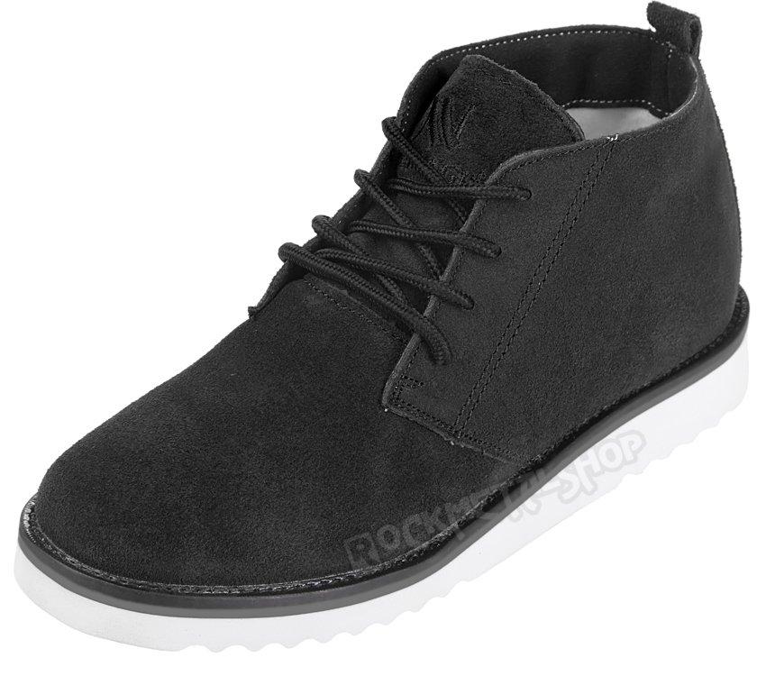 buty zamszowe NEW AGE CZARNE BLACK WS1272 sklep