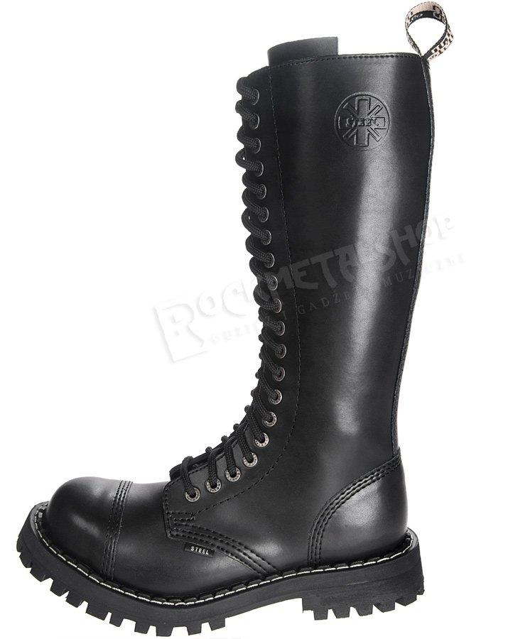 buty do biegania złapać ceny detaliczne glany STEEL - BLACK (20 dziurek) - sklep RockMetalShop.pl