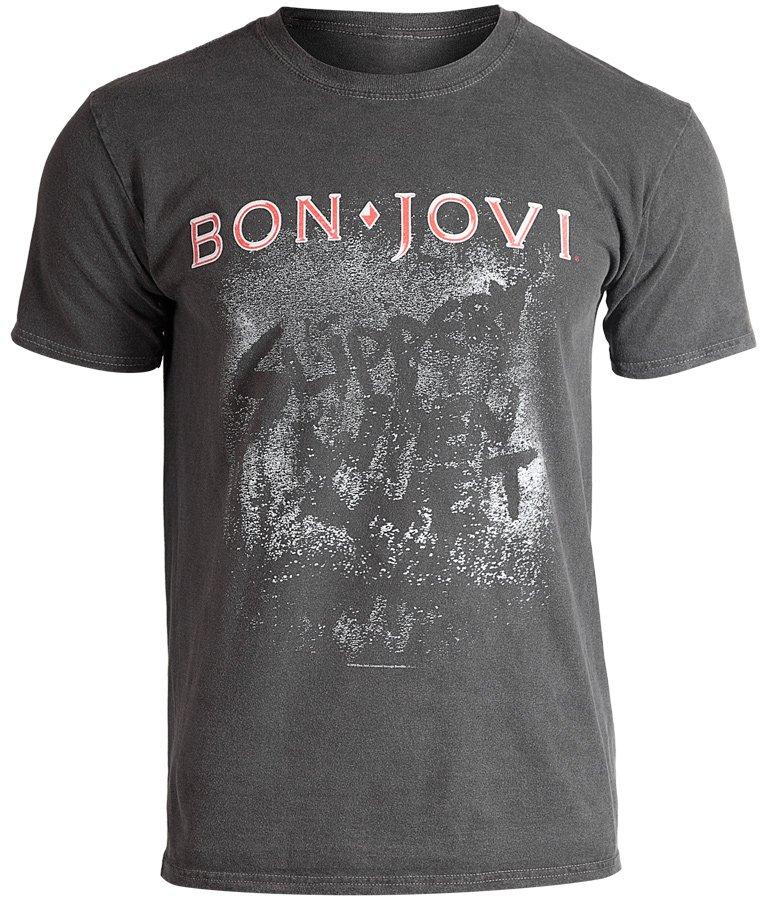 koszulka BON JOVI SLIPPERY WHEN WET ALBUM VINTAGE WASH