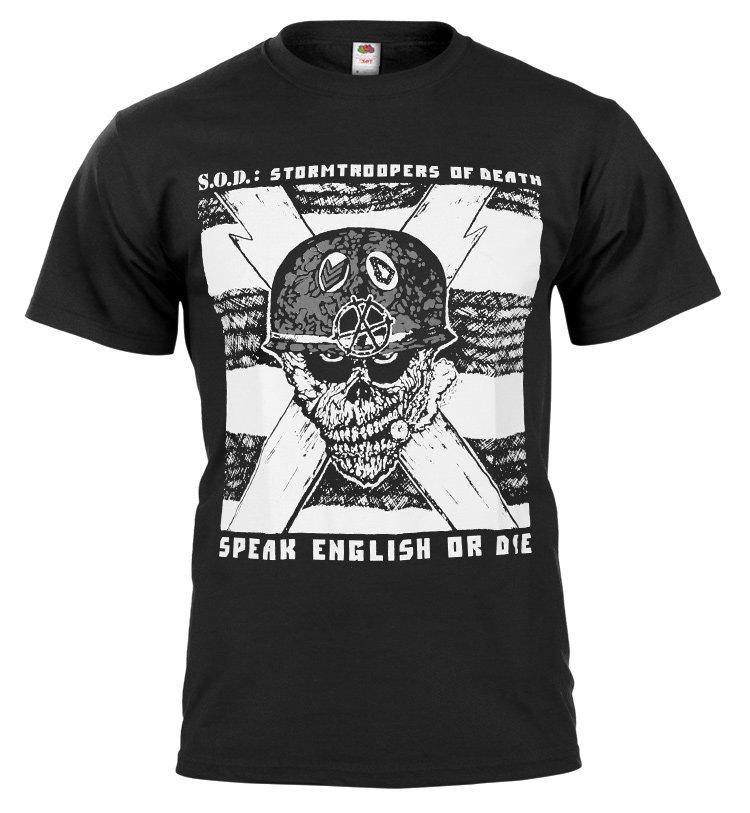 koszulka S.O.D. SPEAK ENGLISH OR DIE sklep RockMetalShop.pl