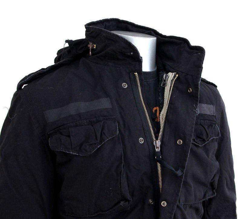 jak kupić produkty wysokiej jakości tani kurtka M65 REGIMENT BLACK - sklep RockMetalShop.pl