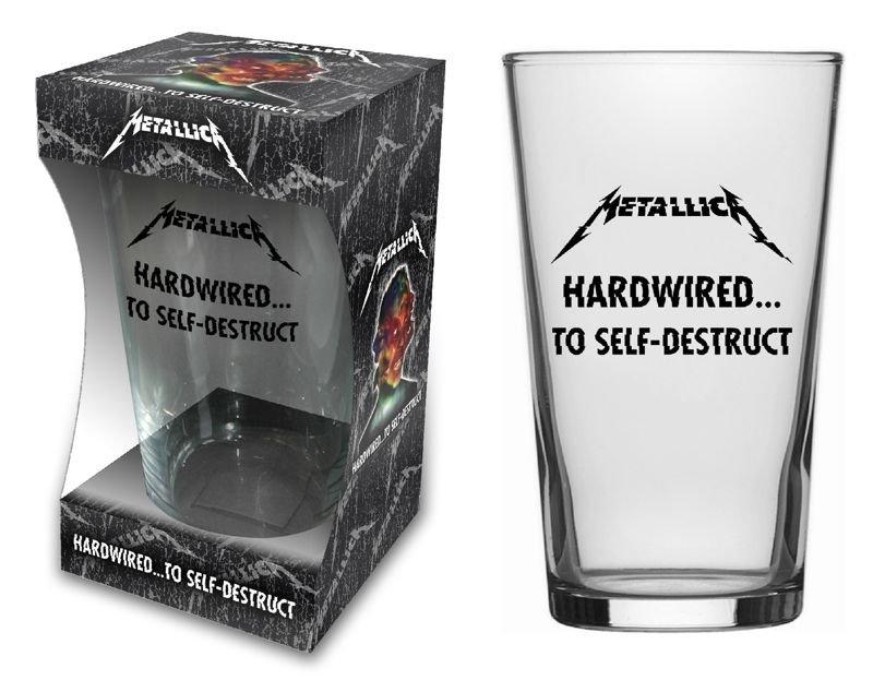 szklanka do piwa METALLICA - HARDWIRED TO SELF DESTRUCT - sklep ... a57b3af0030