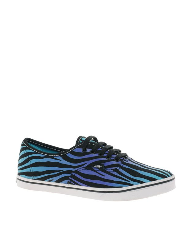 bab22583c4 trampki damskie VANS - AUTHENTIC LO PRO ZEBRA FADE BLACK SCUBA BLUE ...