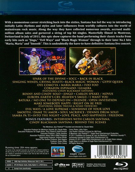 SANTANA: LIVE AT MONTREUX 2011 (BLU-RAY)