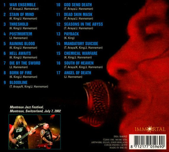 SLAYER: LIVE IN MONTREUX 2002 (CD)