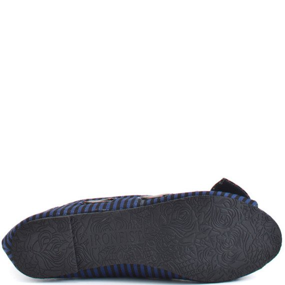 balerinki IRON FIST - SINKING SHIP PEEP TOE FLAT (NAVY/BLACK)