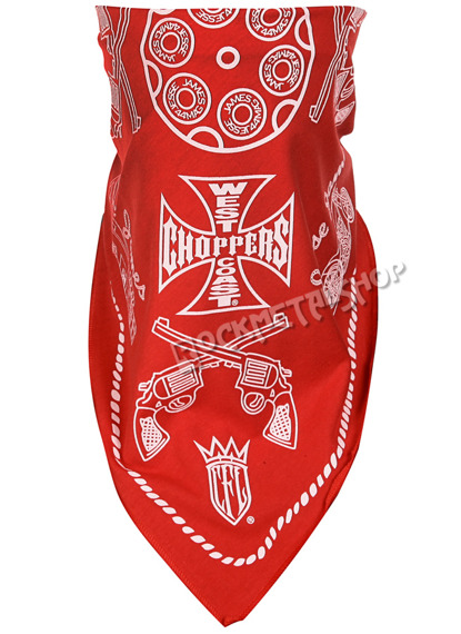 bandana  WEST COAST CHOPPERS - JESSE JAMES RED