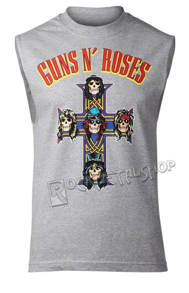 bezrękawnik GUNS N' ROSES - ARCHED LOGO CROSS