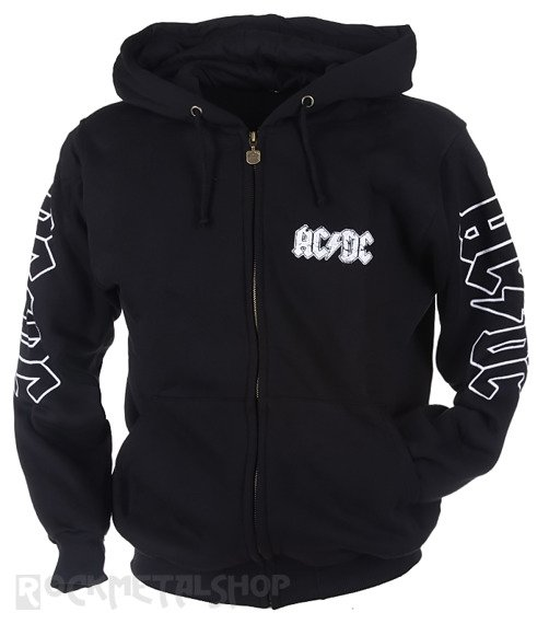 bluza AC/DC - FOR THOSE ABOUT TO ROCK rozpinana, z kapturem