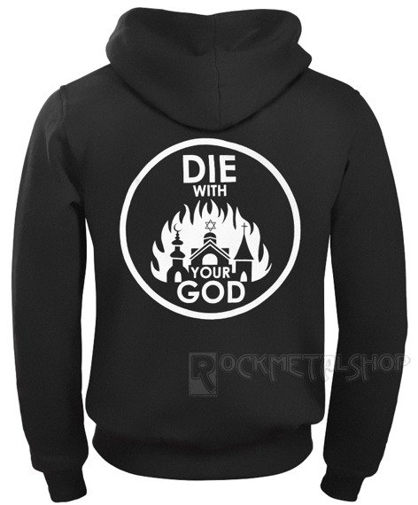 bluza AMENOMEN - DIE WITH YOUR GOD rozpinana, z kapturem (OMEN071CR)