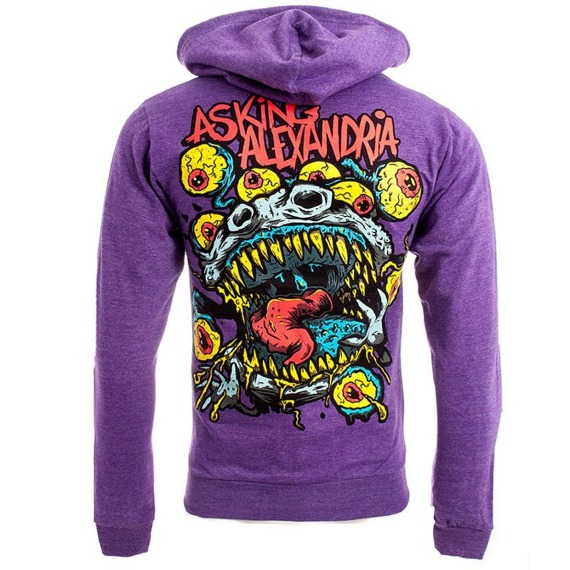 bluza ASKING ALEXANDRIA - EYEBALLS, rozpinana z kapturem