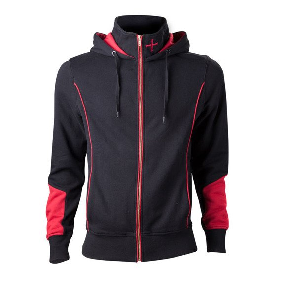 bluza ASSASSINS CREED - UNITY ROUGE, rozpinana z kapturem
