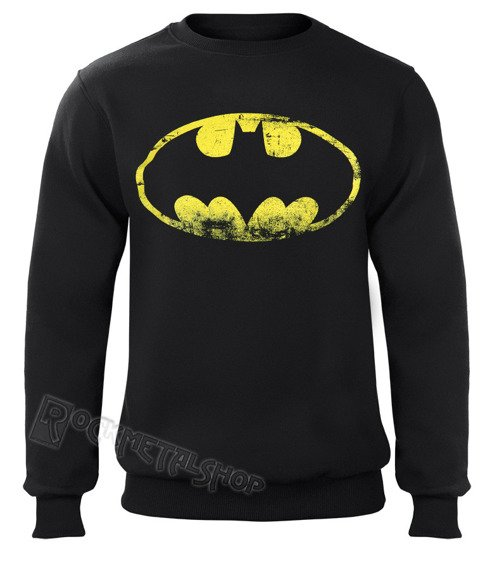 bluza BATMAN - DISTRESSED LOGO, bez kaptura