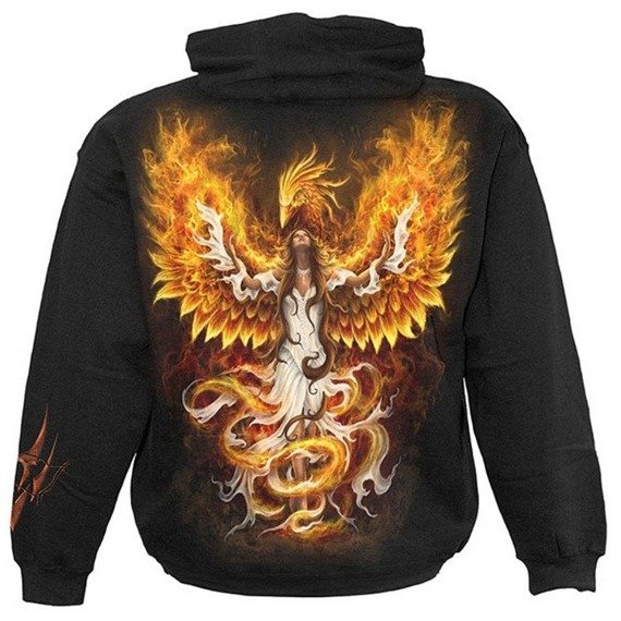 bluza BIRTH OF THE PHOENIX, kangurka z kapturem