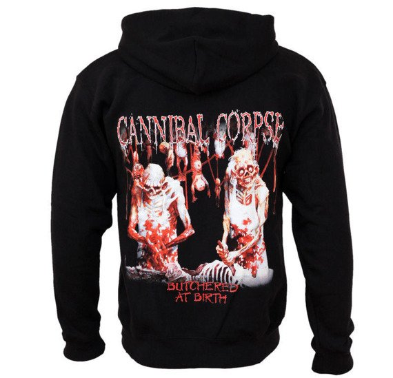 bluza CANNIBAL CORPSE - BUTCHERED AT BIRTH, rozpinana z kapturem