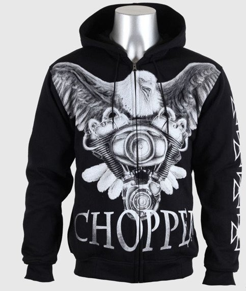 bluza CHOPPER, rozpinana z kapturem