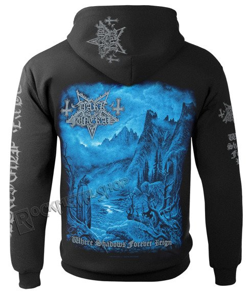 bluza DARK FUNERAL - WHERE SHADOWS FOREVER REIGN, rozpinana z kapturem
