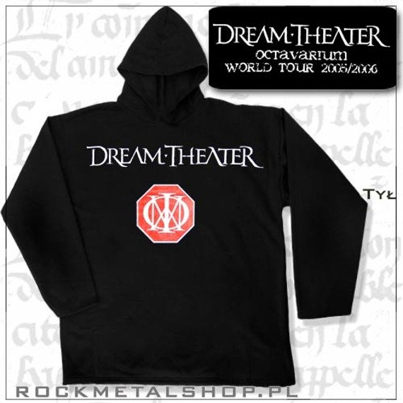 bluza DREAM THEATER - OCTAVARIUM WORLD TOUR 2005/2006 czarna z kapturem