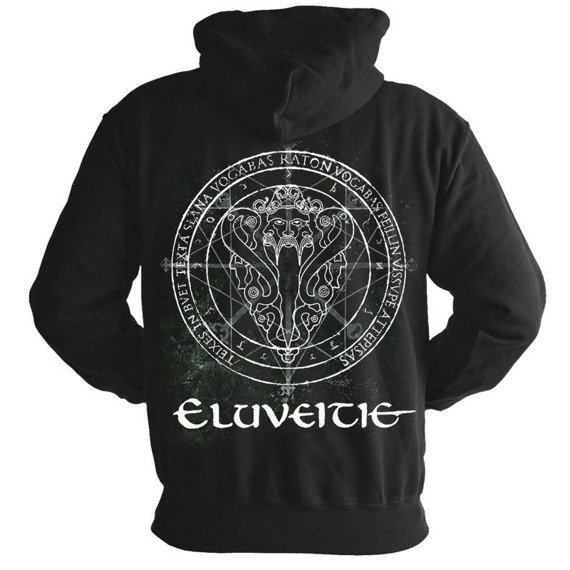 bluza ELUVEITIE - EVOCATION II PANTHEON, rozpinana z kapturem