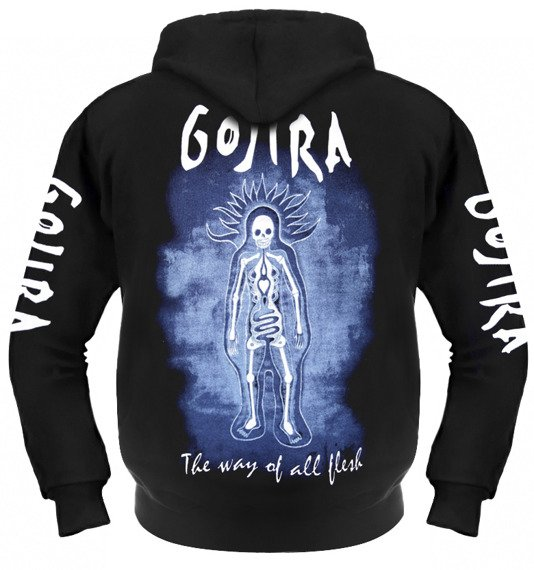 bluza GOJIRA - THE WAY OF ALL FLESH rozpinana, z kapturem