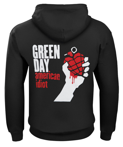 bluza GREEN DAY - AMERICAN IDIOT rozpinana, z kapturem