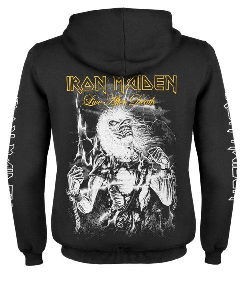 bluza IRON MAIDEN - LIVE AFTER DEATH rozpinana, z kapturem