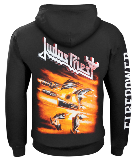 bluza JUDAS PRIEST - FIREPOWER, rozpinana z kapturem