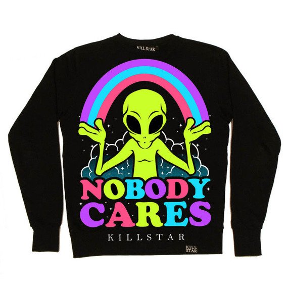 bluza KILL STAR - NOBODY CARES, bez kaptura